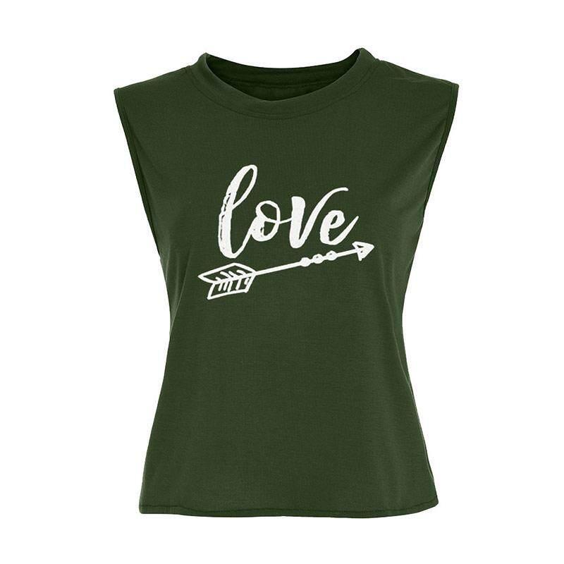 e235b7e2 Summer Tank Tops Women Sleeveless O Neck Loose Tshirt Ladies Casual Print  Slim Letter Vest T