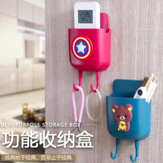 01 Hộp treo tường họa tiết hoạt hình đựng thiết bị điều hòa không khí điều khiển từ xa và điện thoại di động - INTL thumbnail