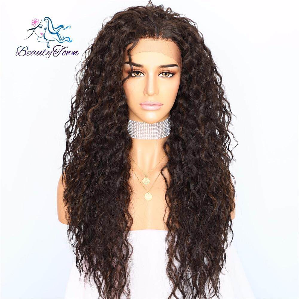 1710e24cc BeautyTown Kinky Curly Type Futura Heat Resistant Hair Black Highlight Gold  Women Daily Makeup Synthetic Lace