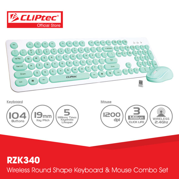 CLiPtec YOUNG AIR Wireless Keyboard and Mouse Combo Set RZK340 Malaysia