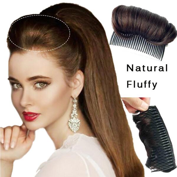 Nâu Đen Tóc Fluffy Tóc Combs Vô Hình Kẹp Tóc Công Chúa Công Cụ Tạo Kiểu Tóc Bun Tóc Giả Kẹp Tóc Pad