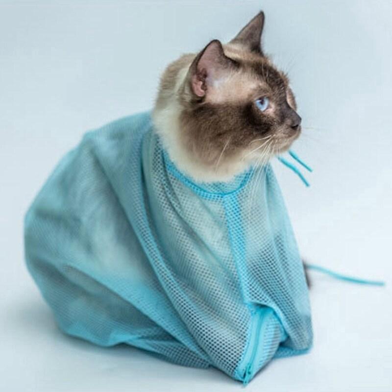 Túi Đựng Khăn Giấy Cho Mèo Thiết Bị Dọn Dẹp Cho Thú Cưng Chống Trầy Xước Và Chống Cắn Mèo Túi Tắm Mèo Làm Đẹp Túi Tắm