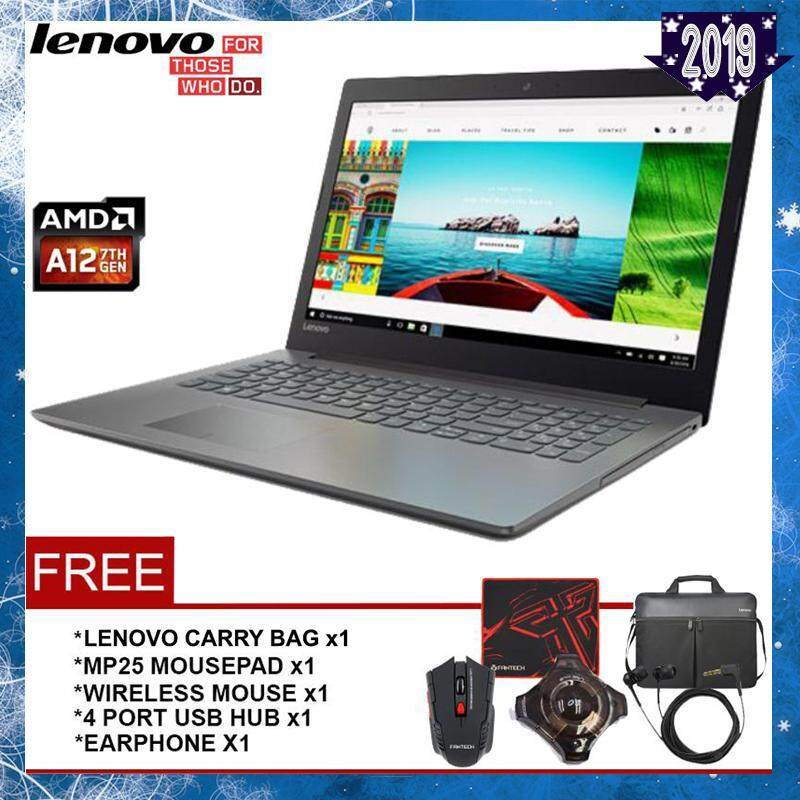 LENOVO IdeaPad 320-15ABR Notebook/Laptop (AMD QUAD CORE A12-9720P/4GB/1TB/15.6/M530-GRAPHIC/WIN10) - Platium Grey Malaysia