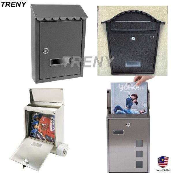 TRENY United States Mail Box / Post Box Post Letter Box/ Iron Mail Box/ Besi Plastik/ Mailbox/ Letterbox - 7558