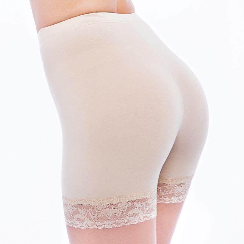 d77c170ac417 Three-pants lace sexy safety pants modal three-point bottoming briefs