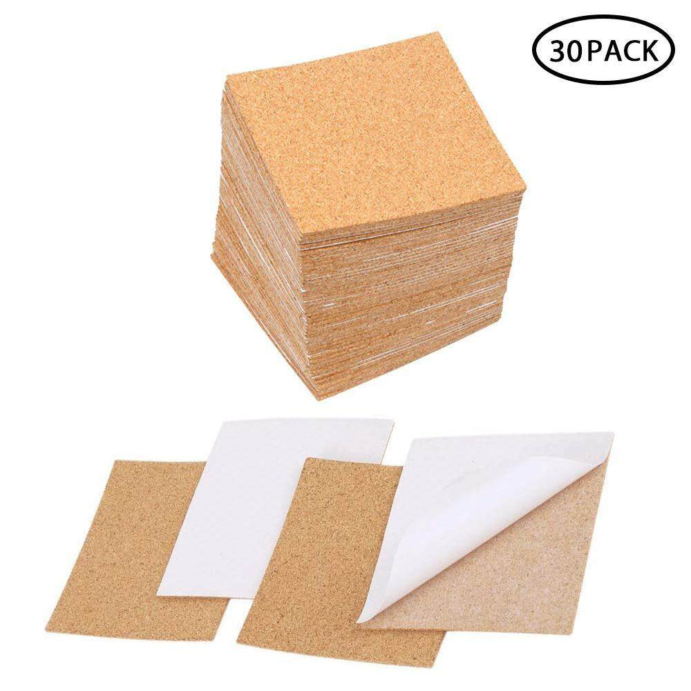 Buybowie Cork Board Tiles Self Adhesive-Great For Coasters,floors,walls-Sound Proofing/anti-Skid/isolation Cork Mats Square- 4x4inch(pack Of 30/80) By Buybowie.
