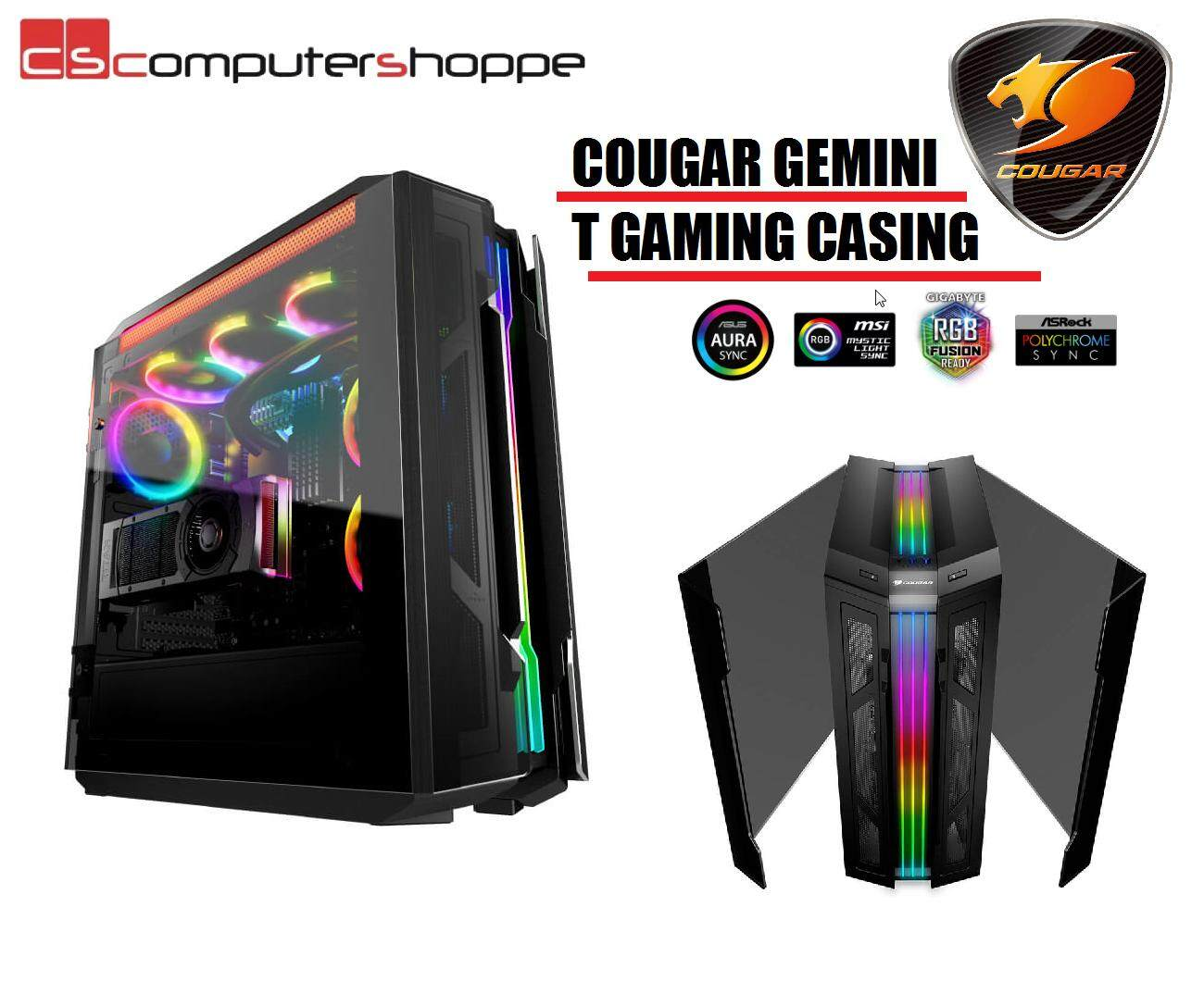 Cougar Gemini T Gaming Casing With Wings Design Malaysia