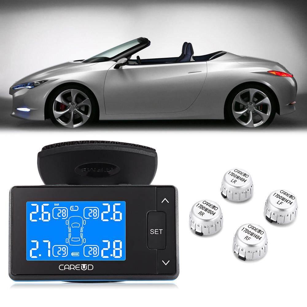 Careud U902 Layar LCD TPMS 433.92 MHz DC 12 V Mobil Pemantau Tekanan Ban Sistem dengan 4 TPMS Eksternal/Sensor Internal