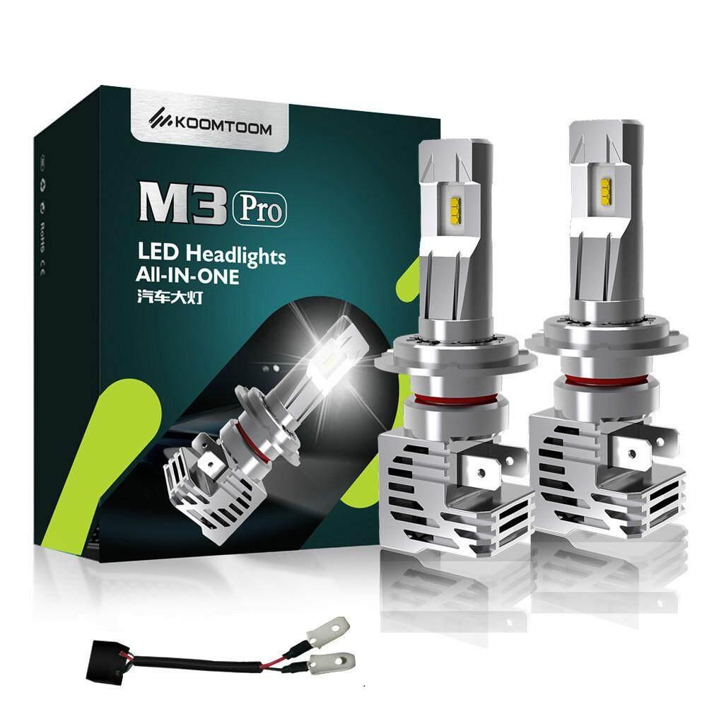 NIHUA-KOOMTOOM M3Pro Nirkabel Terintegrasi LED Lampu Mobil H4 H7 9005 9006 H10 H8 H11 H16