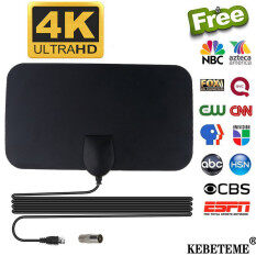 Đầu Chuyển Đổi Anten TV KEBETEME 4K 25DB, Đầu Chuyển Đổi Cáp Thu Tín Hiệu Phạm Vi 50 Dặm VHF UHF HD HDTV Kỹ Thuật Số Cao