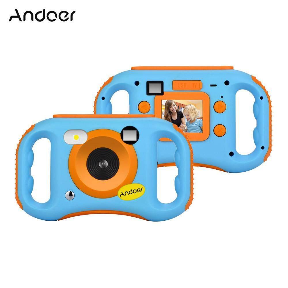 Andoer Cde7 Wifi Kids Creative Camera 5mp 1080p Hd Digital Anti-Drop Children Camera Mini Video Camcorder With 1.77 Inch Lcd Display 5x Digital Zoom Wi-Fi Share Built-In Flash.