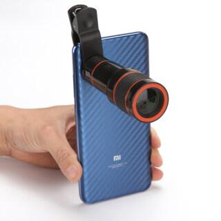 ZZOOI universal 12X Telescope Binocular Optical Zoom Telescope Camera Lens Clip Mobile Phone len For iPhone thumbnail