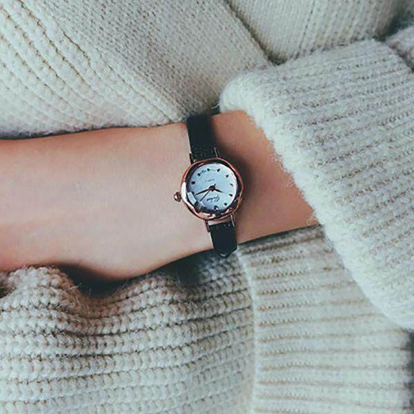 LKJ Women Quartz Analog Wrist Small Dial Delicate Watch Luxury Business Watches BK automatic assistant bestwatch for women Black Malaysia