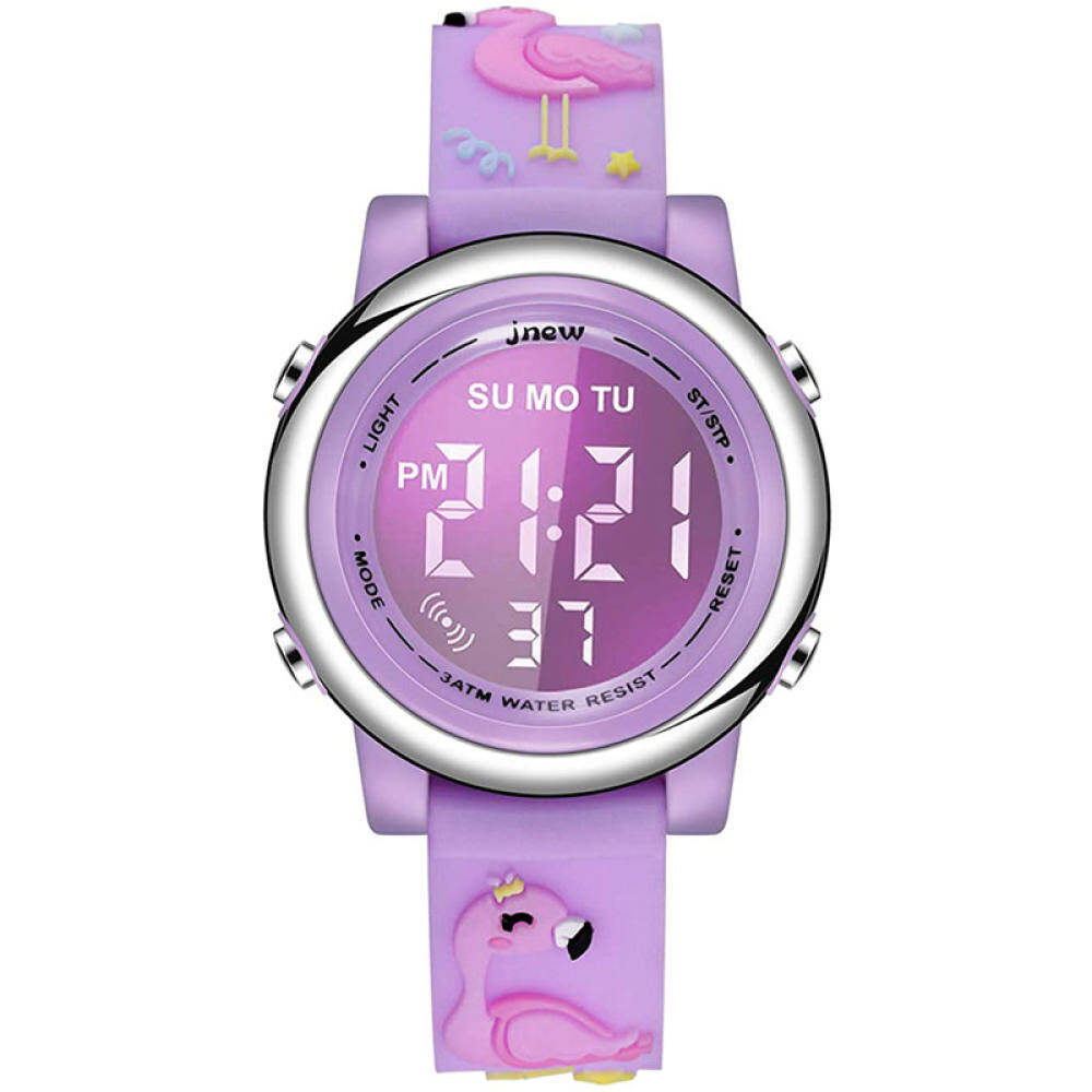 Kids Unicorn Watch Waterproof Digital - Upgrade 3D Cute Cartoon 7 Color Lights Sport Outdoor Toddler Watch with Alarm Stopwatch for 3-10 Year Boys Girls Little Child - Best Gift Malaysia