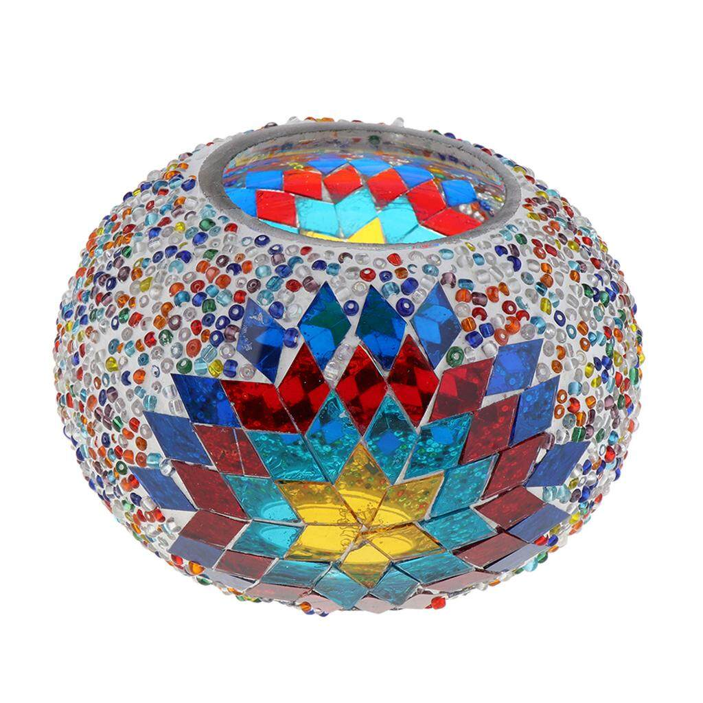 BolehDeals Turkish Style Lamp Shade Glass Standard Lamp Shade for Living Room Decor