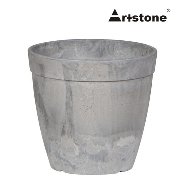 Artstone Decorative Flower Pot / Pasu Bunga Hiasan / Indoor and Outdoor / Lightweight / Self-Watering Drainage System / Modern Marble Stone Look / Dolce D33 H29