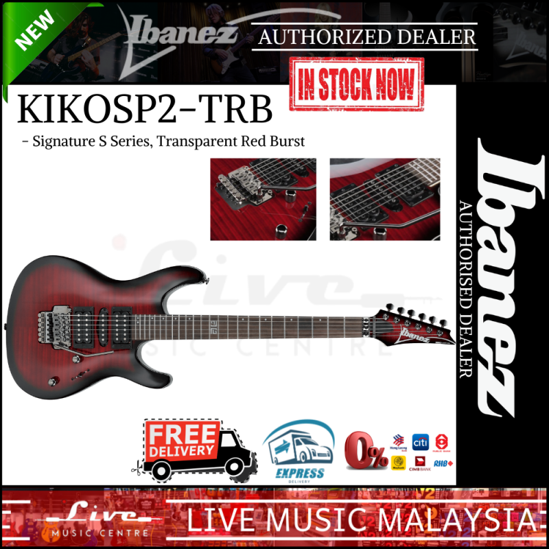 Ibanez KIKOSP2-TRB - Kiko Loureiro Signature Electric Guitar, Transparent Red Burst (KIKOSP2) Malaysia