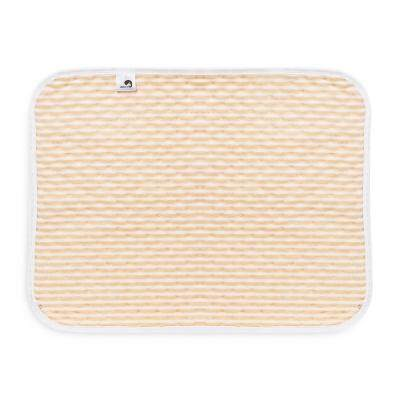 Heart Print Water-resistant Reusable Baby Changing Pad Small Size (GOLDEN BROWN)
