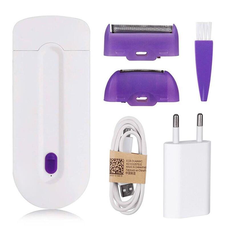 USB Sạc Nữ Máy Tẩy Nhổ Lông Di Động Tóc Dụng Cụ Quay Máy Cạo Râu Cơ Thể Mặt Chân Bikini Môi Depilator Tóc Laser tốt nhất