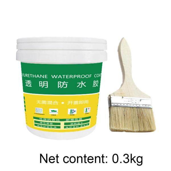 Transparent waterproof glue for bathroom interior and exterior walls With brush