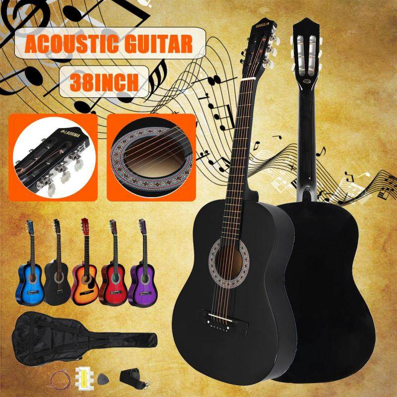 38 Beginners Acoustic Guitar with Guitar Case Strap Tuner & Pick Steel Strings Malaysia