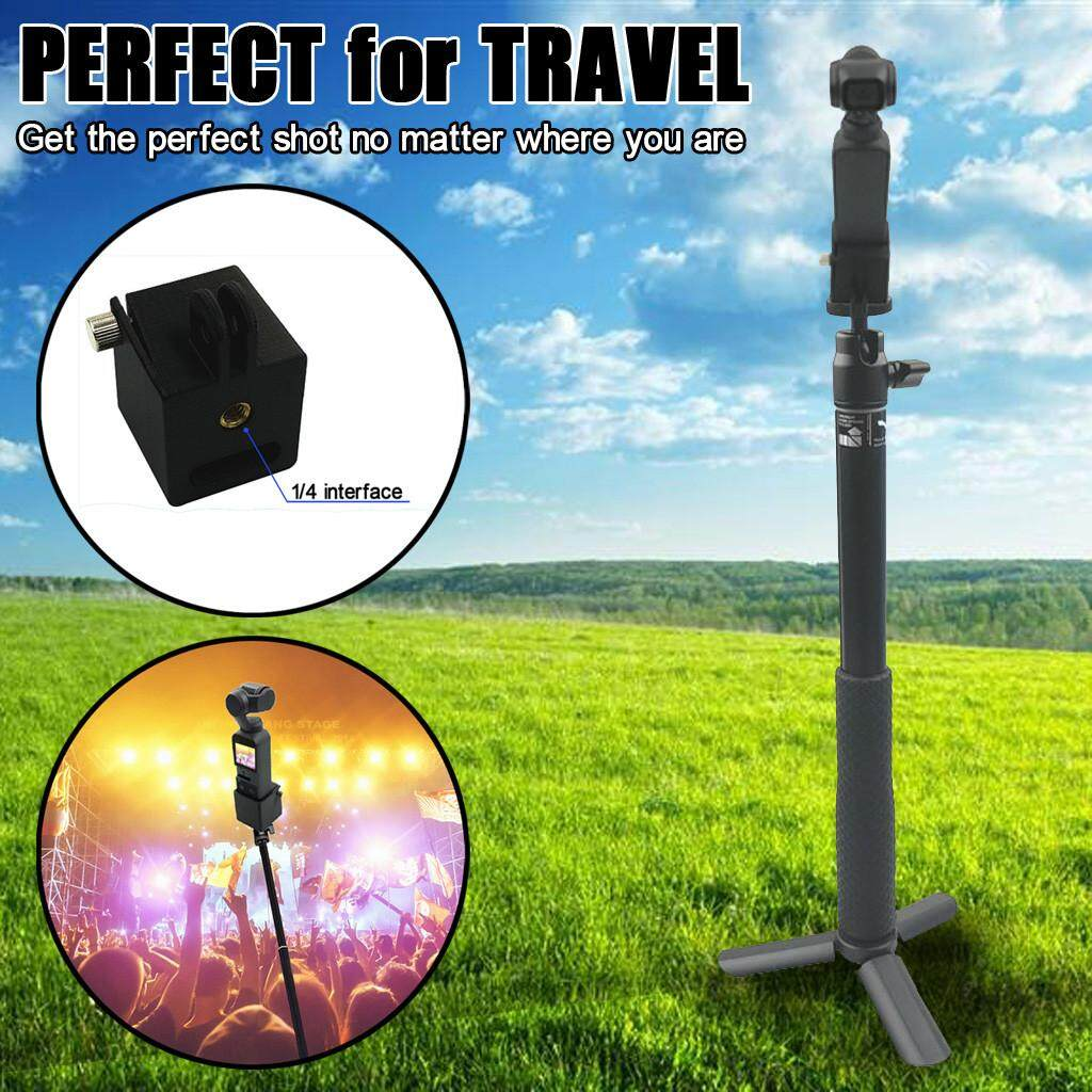 Docesty Extension Rod Selfie Stick Tripod With 1/4 Screw Adapter For Dji Osmo Pocket By Docesty.