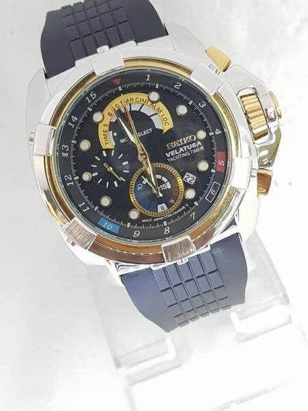 NEW_SEIK0_Velaturaa_Yachtingg Timer Orignal Leather Chronograph Stainless Steel Case 44mm 100% JAPAN MIYOTA MOVEMENT Business Fashion Watch For Men Malaysia