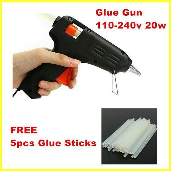 Art Craft Repair Tool 20W Electric Heating Hot Melt Glue Gun Sticks Trigger +5pcs 7mm Melt Glue Sticks