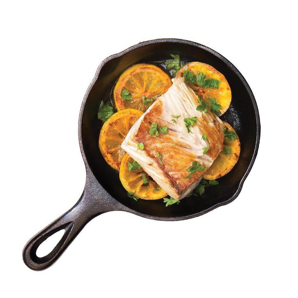Loviver Non-stick Cast Iron Griddle Skillet Flat Egg Pancake Frying Pan Kitchen BBQ