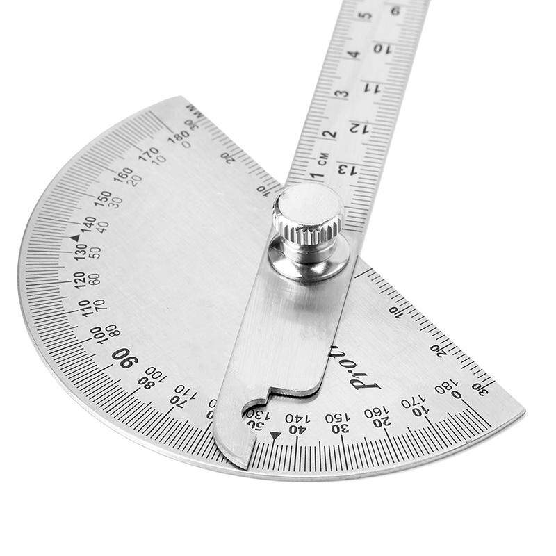 Blowing 15cm 180 Degree Adjustable Protractor Multifunction Stainless Steel Angle Ruler