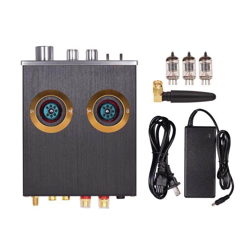 Mini HiFi Digital Audio Power Amplifier Stereo Amp with Dual 6J2 Vacuum Tubes BT AUX Inputs Treble Bass Controls 100W(50W*2) Malaysia
