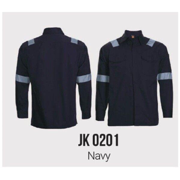 Technician welder Jacket workwear with reflective 100% cotton JK02