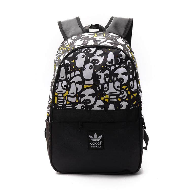 dbf5227a3752 Adidas New Graffiti Backpack Men and Women Backpack Student Couple Computer  Bag