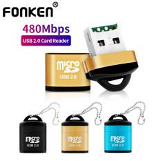 FONKEN Đầu Đọc Thẻ USB Đa Năng, Đầu Đọc Thẻ Nhớ Điện Thoại Di Động Micro SD/TF Mini Tốc Độ Cao Xách Tay