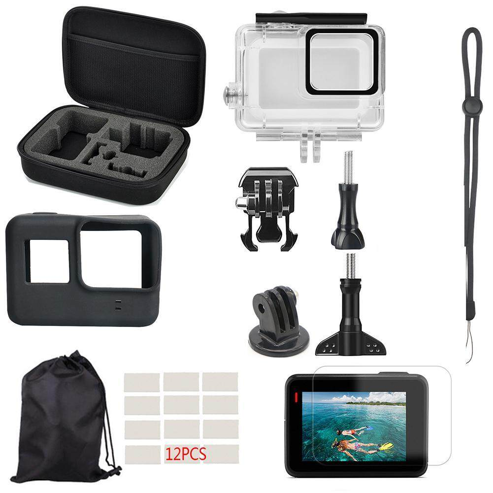 22pcs Waterproof Case Tempered glaee Screen Protector Cover for Gopro Hero 7 White Silver