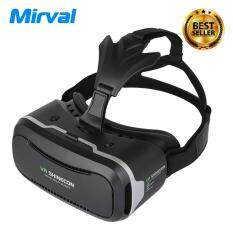 """Mirval VR1 3D VR Shinecon 2.0 3D Glasses Headset Movie Game VR Virtual Reality Cardboard Head Mount vr box For 4.7-6.0"""" Phone"""