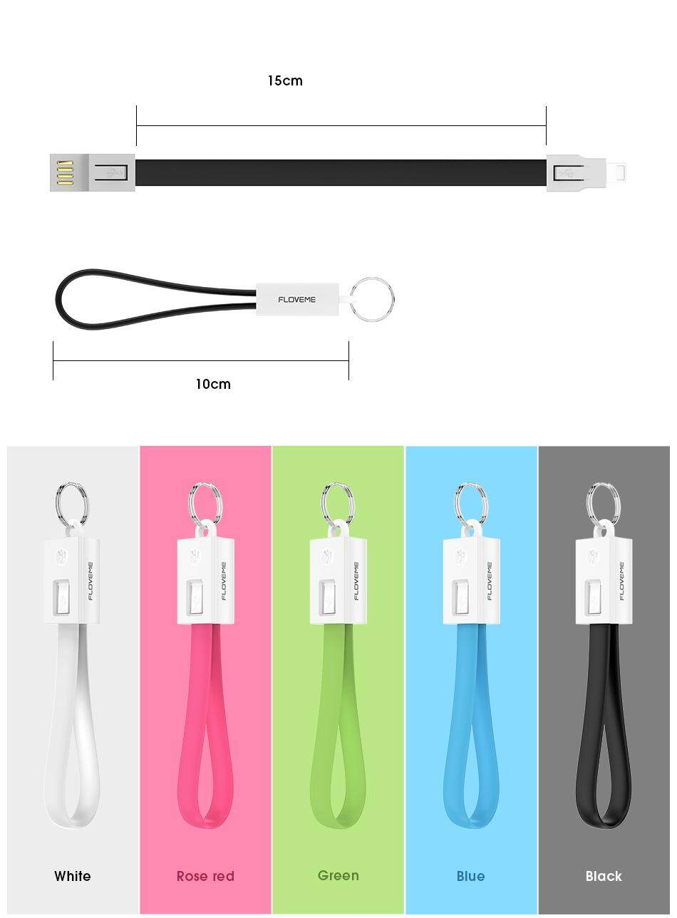 Reflove USB Asli Kabel untuk iPhone 6 7 8 Plus X XR X Charger Gantungan Kunci Magnet Kabel USB