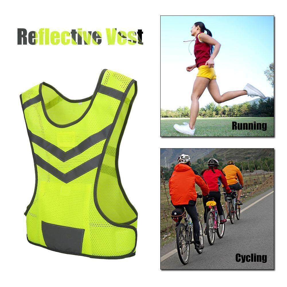 High Visibility Adjustable Reflective Safety Vest for Outdoor Sports Cycling Running Hiking
