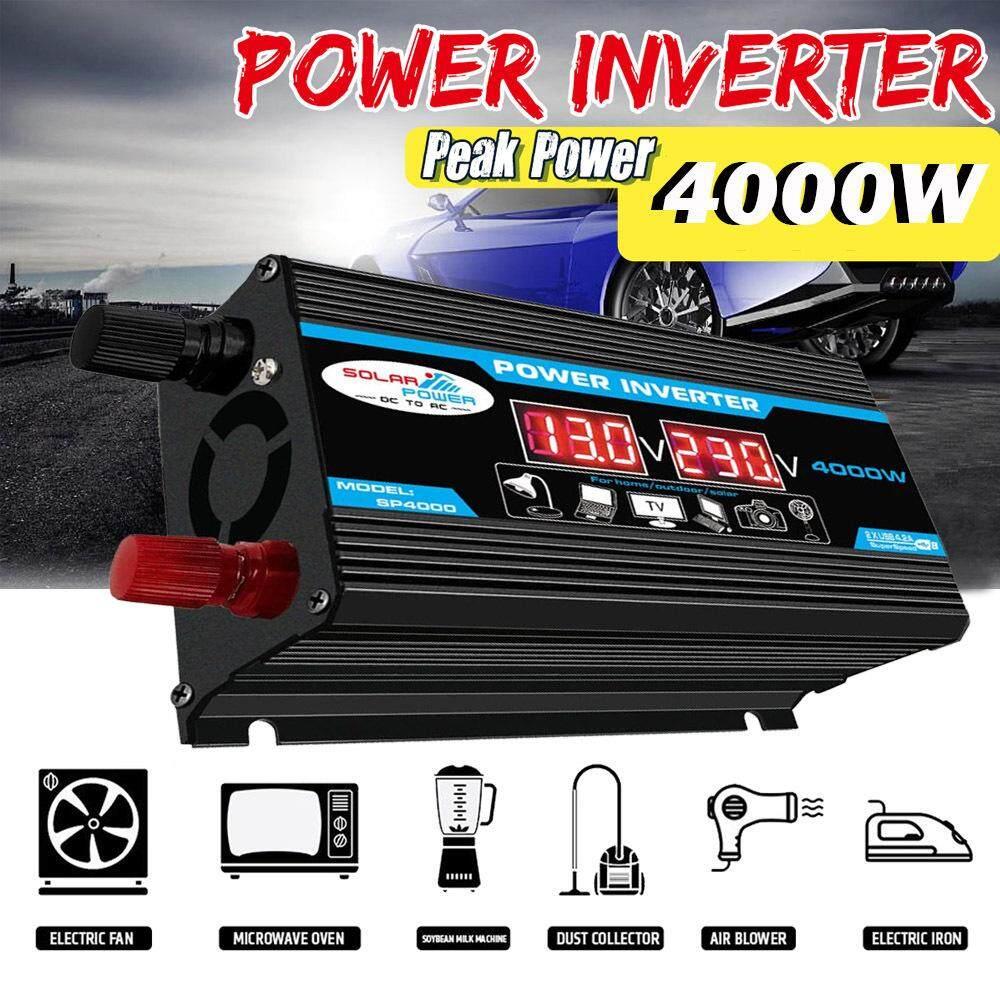 US Car Power Inverter Converter DC 12V To AC 110V 2000W//4000W USB Charger