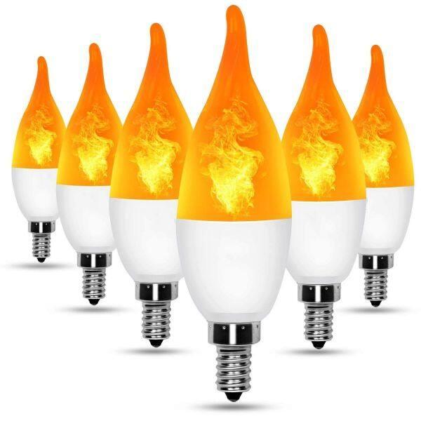 Zhenshiless 4 Chế Độ E27/26 LED Light Flicker Ngọn Lửa Đèn Bulb Cháy Hiệu Ứng Decor Trọng Lực Cảm Biến