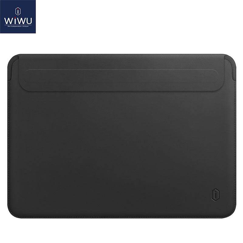 WIWU Leather Ultra Slim Sleeve for 13 MacBook Pro A2159 2019 2018 2017 2016 / New MacBook Air 13.3 / Surface Book Tablet Laptop