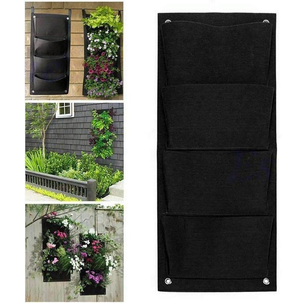 Aolvo 18 Kantong Gantungan Dinding Kantong Penanam Dinding Tumbuh Tas untuk Indoor Outdoor Vertikal Pot Dinding