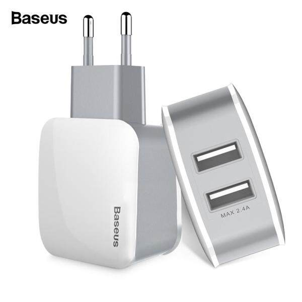 Baseus Bộ sạc USB kép cho iPhone Sạc nhanh USB Cắm sạc tường Turbo cho Samsung Xiaomi Mi Bộ sạc điện thoại di động
