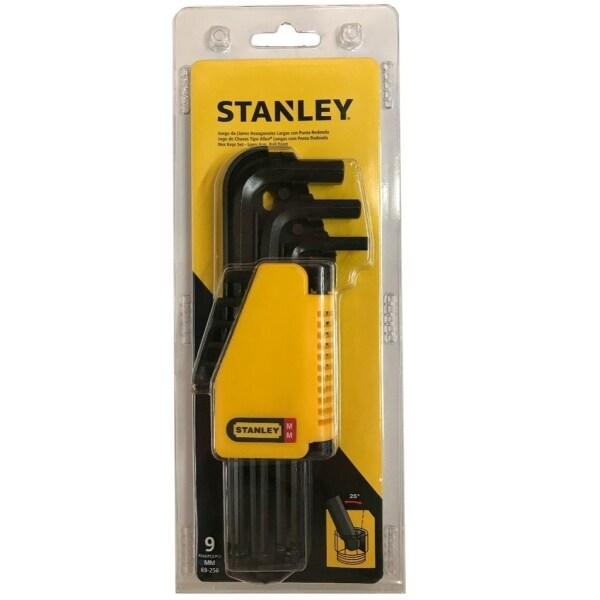 STANLEY Long Arm & Ball Point Hex Keys 9pcs Set - MM (69-256)