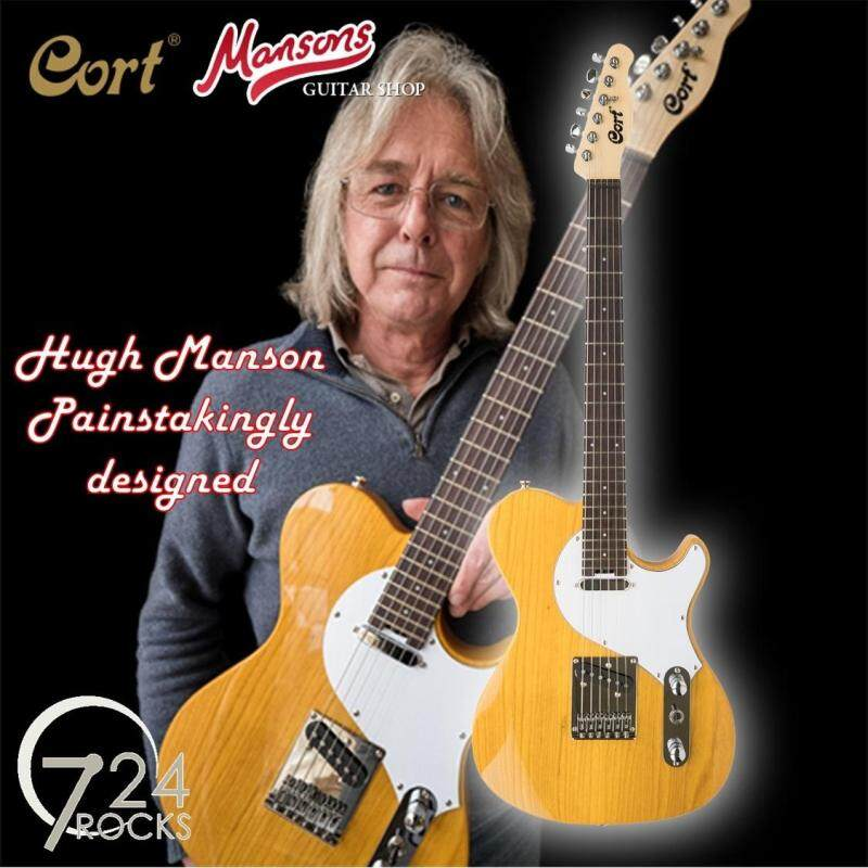 Cort Classic TC Manson Stage Series Hugh Manson Painstakingly designed Electric Guitar - Scotch Blonde Natural Malaysia