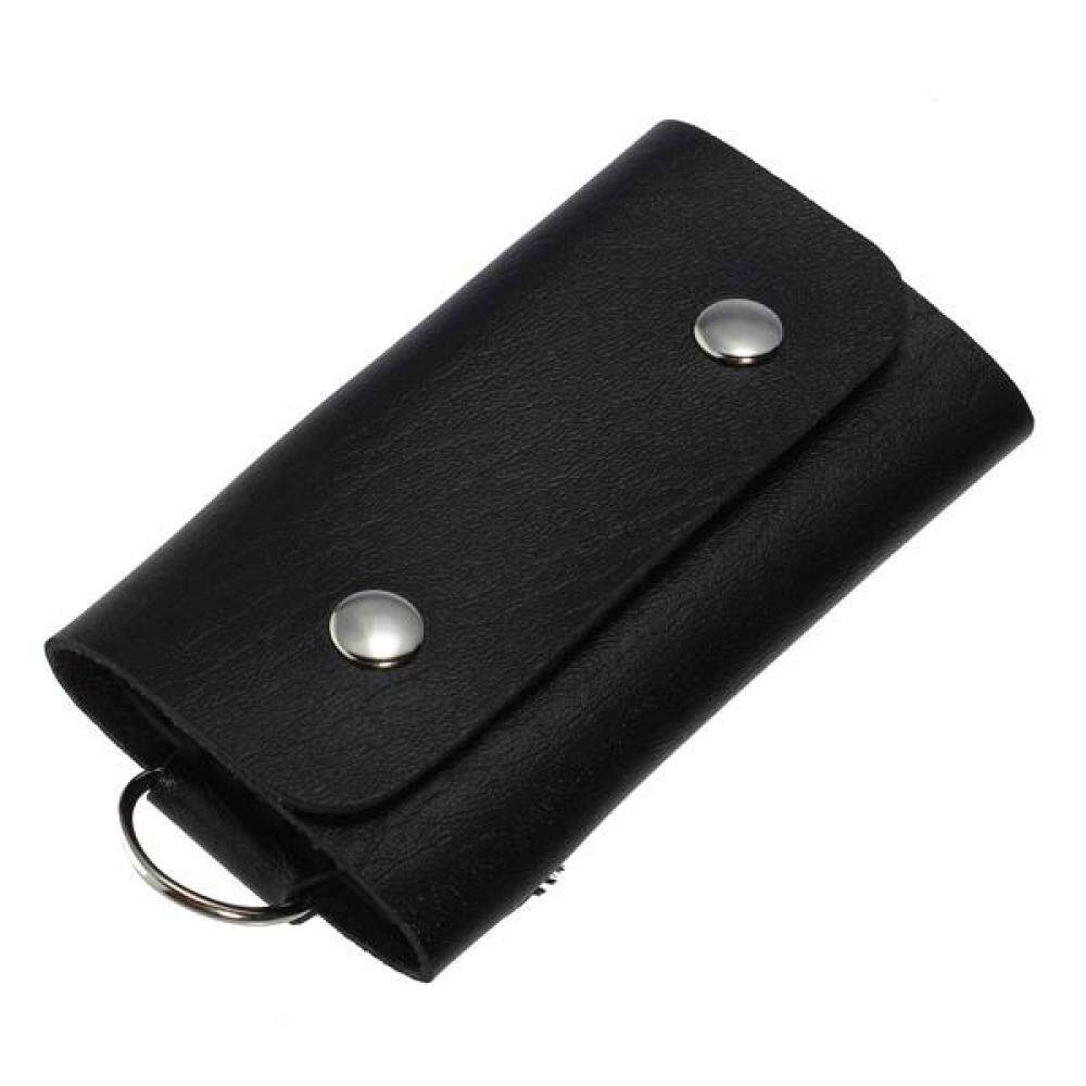 New Men Women PU Leather Key Chain Accessory Pouch Bag Wallet Case Key Holder