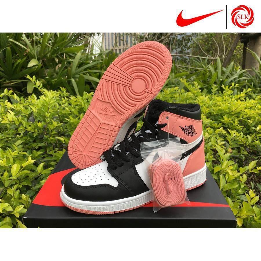 huge selection of b9529 97641 ชื่อสินค้า, SLK☆ Girls Nike Air Jordan 1 Retro High OG GS Rust Pink Hot  Sale Basketball shoes