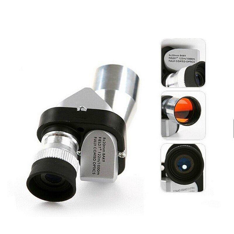 Mini 8X20mm Bạc Bằng Một Mắt Phạm Vi, Cho Cắm Trại Du Lịch Đi Bộ Đường Dài Quang Học Bằng Một Mắt Kính Thiên Văn, Màu Xanh Lá Cây Tráng Ngoài Trời Bằng Một Mắt