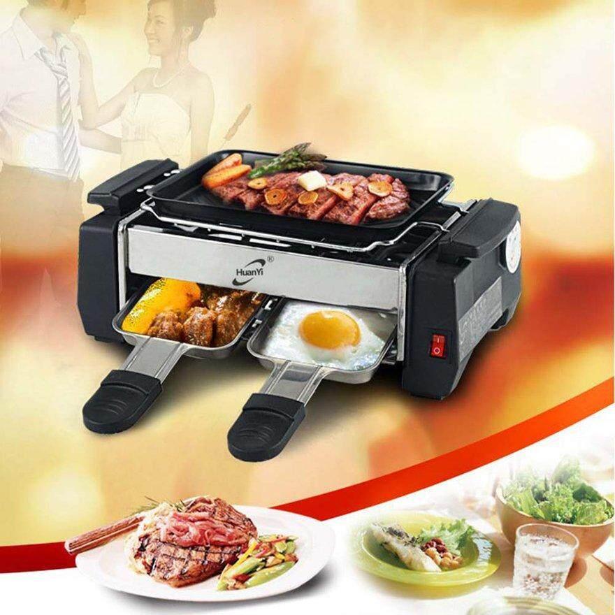 ANEXT 1000W Cao Cấp Không dính Họ Nướng Điện Raclette Bếp Nướng Không Khói