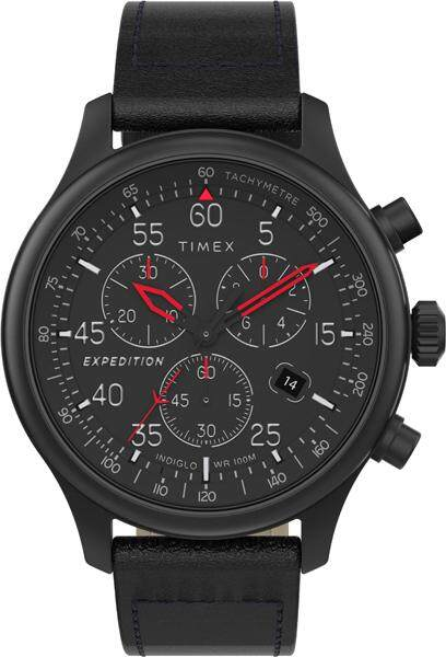 Timex Expedition Field Chronograph Leather Strap Watch ,43mm - TW2T73000 Malaysia